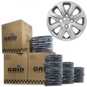 Lote Kit De Calotas Para Revenda Com 12pçs Aro 14 Grid G340k