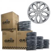 Lote Kit De Calotas Para Revenda Com 12pçs Aro 14 Grid G374k