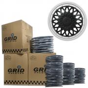 Lote Kit De Calotas Para Revenda Com 12pçs Aro 14 Grid G601PBPK