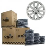 Lote Kit De Calotas Para Revenda Com 12pçs Aro 15 Grid G018k
