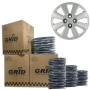 Lote Kit De Calotas Para Revenda Com 12pçs Aro 15 Grid G030k