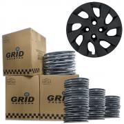 Lote Kit De Calotas Para Revenda Com 12pçs Aro 15 Grid G195PFk