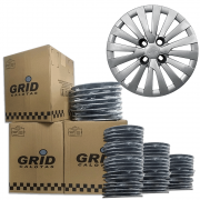Lote Kit De Calotas Para Revenda Com 12pçs Aro 15 Grid G242k