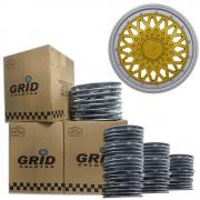 Lote Kit De Calotas Para Revenda Com 12pçs Aro 15 Grid G602DPTk
