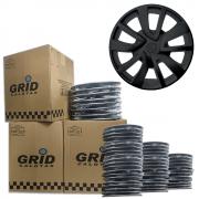 Lote Kit De Calotas Para Revenda Com 12pçs Aro 15 Grid G869PFk