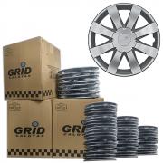 Lote Kit De Calotas Para Revenda Com 12pçs Aro 15 Grid G875k