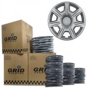 Lote Kit De Calotas Para Revenda Com 12pçs Aro 15 Grid G876k