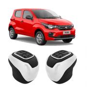 Manopla Fiat Mobi Preta c/ Branco