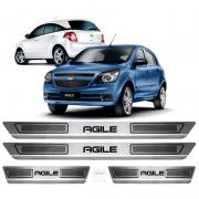Soleira Aço Inox Chevrolet Agile 2012 2013 2014 2015