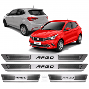 Soleira Aço Inox Fiat Argo Easy Comfort 2017 2018 2019