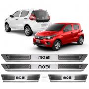 Soleira Aço Inox Fiat Mobi Evo Easy Comfort 2018 2019