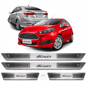Soleira Aço Inox Ford Novo New Fiesta 2015 2016 2017 2019