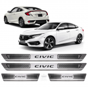 Soleira Aço Inox Honda New Civic .. 2015 2016 2017 2018 2019