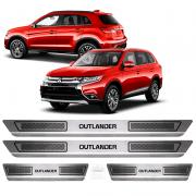 Soleira Aço Inox Mitsubishi Outlander 15 2016 2017 2018 2019
