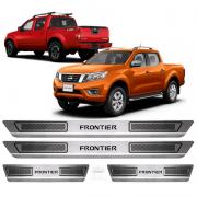 Soleira Aco Inox Nissan Frontier 2012 2013 2014 2015 2016