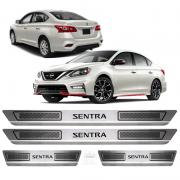 Soleira Aço Inox Nissan Sentra 2015 2016 2017 2018 2019