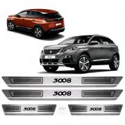 Soleira Aço Inox Peugeot Modelo 3008 Ano 2017 2018 2019