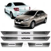Soleira Aço Inox Renault Logan 2014 2015 2016 2017 2018 2019