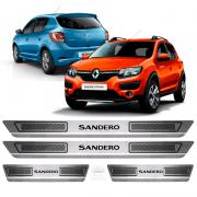 Soleira Aço Inox Renault Sandero 2015 2016 2017 2018 2019