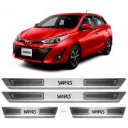 Soleira Aço Inox Toyota Yaris Hatch Sedan 2018 2019