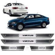 Soleira Aço Inox Volkswagen Virtus 1.6 Msi 2018 2019