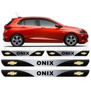 Soleira Resinada Personalizada para GM Chevrolet Onix Hatch Nova Geração