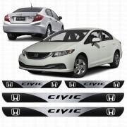 Soleira Resinada Personalizada para Honda New Novo Civic