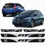 Soleira Resinada Personalizada para Honda New Novo Fit