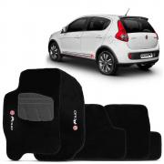 Tapete Carpete Premium 5 Peças Preto Fiat Palio G5 12/14