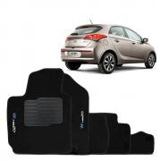 Tapete Carpete Premium 5 Peças Preto Hyundai Hb20 2014 A 2020
