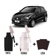 Tinta Tira Risco Automotivo para toda a linha Fiat Preto