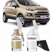 Tinta Tira Risco Automotivo para toda a linha Ford Prata Riviera