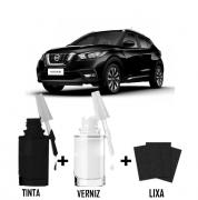 Tinta Tira Risco Automotivo para toda a linha Nissan Preto