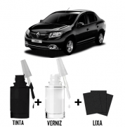 Tinta Tira Risco Automotivo para toda a linha Renault Preto Nacre
