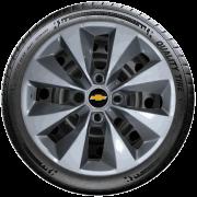 Calota Prata Com Grafite Jogo 4Pçs Chevrolet Onix Corsa Celta G112Ptg