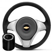 Volante Esportivo R-Line Chevrolet para Celta, Corsa, Vectra, Montana, Classic, Monza, Kadett - Cinza