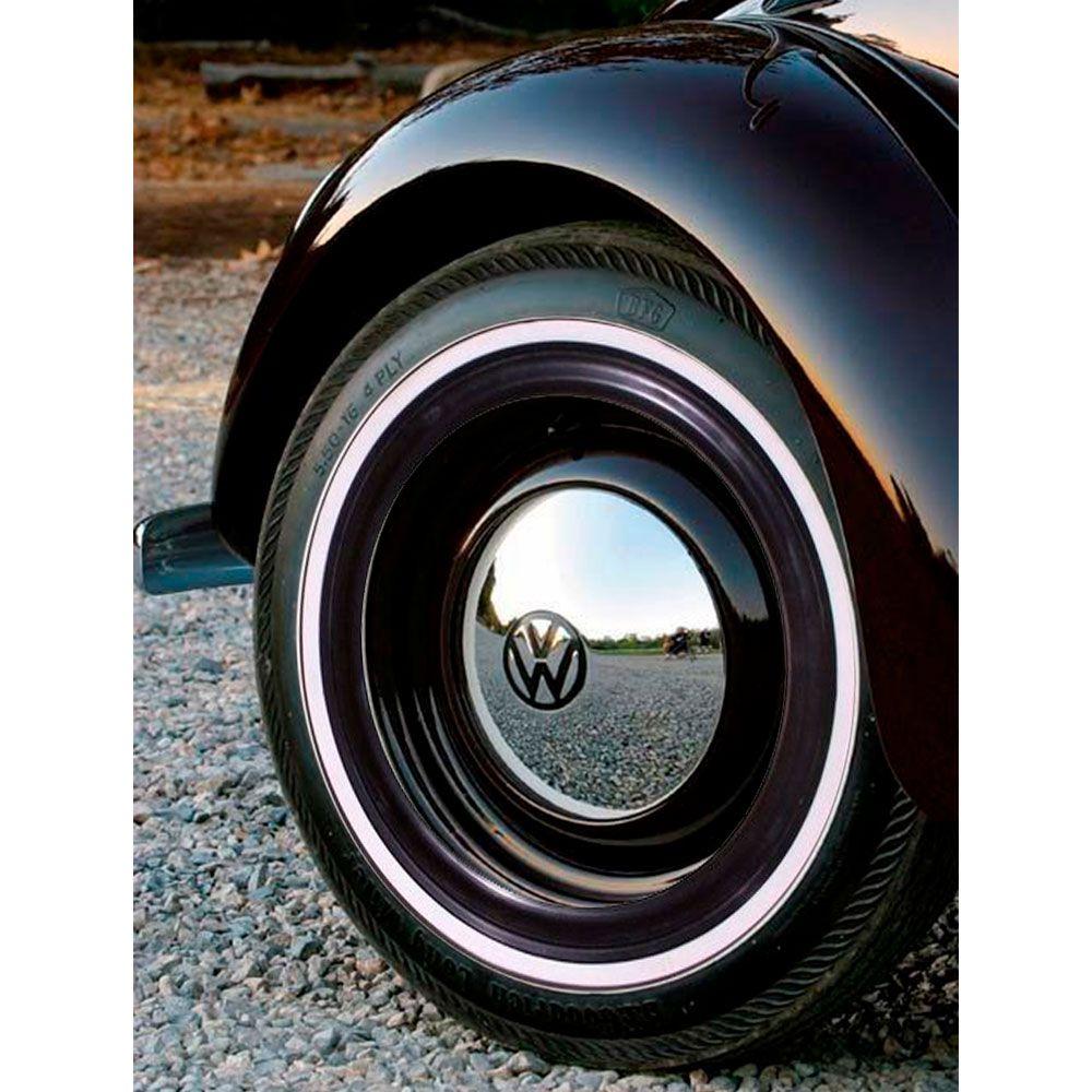 Banda Faixa Branca Com Filete Preta para pneu aro 14
