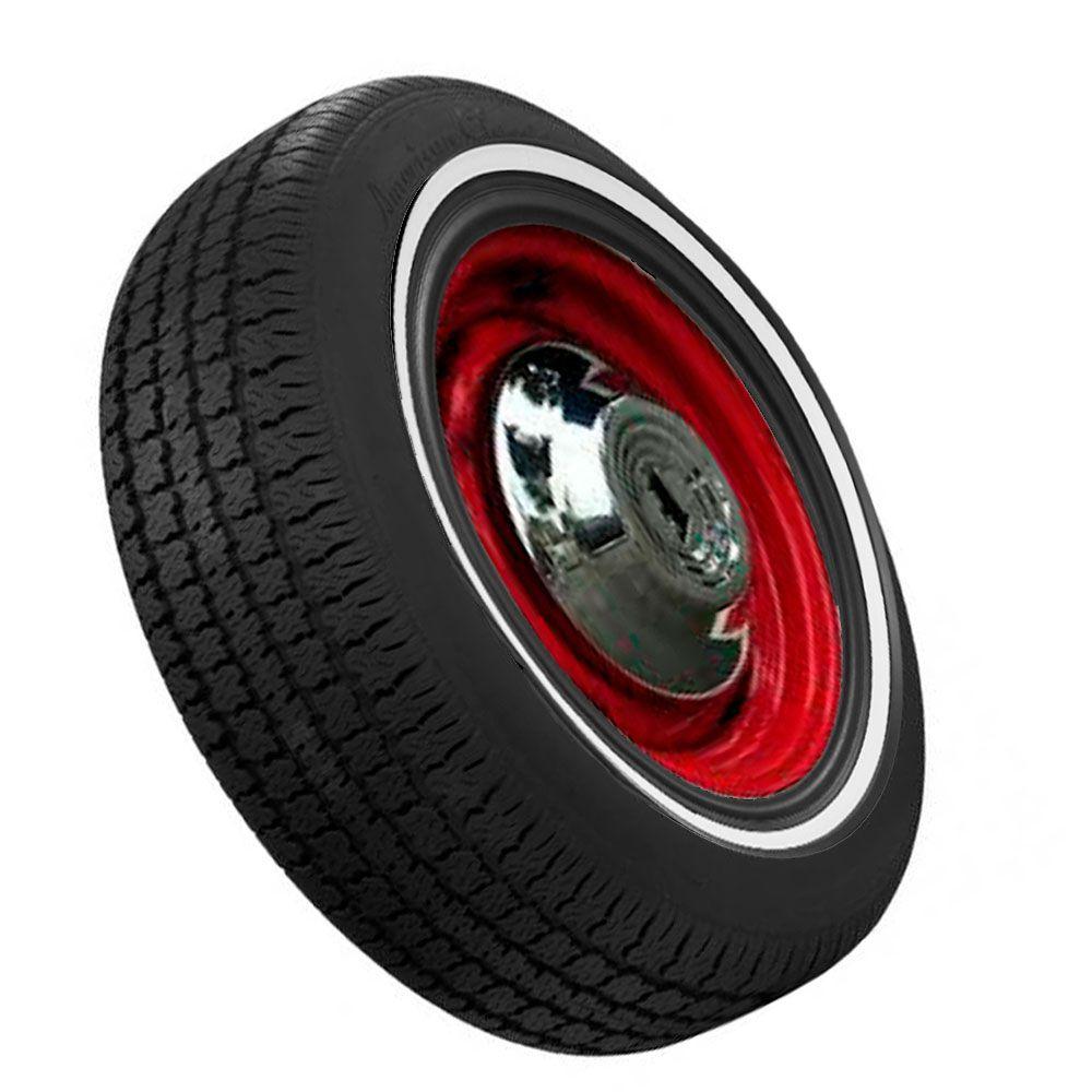 Banda Faixa Branca Com Filete Preta para pneu aro 15