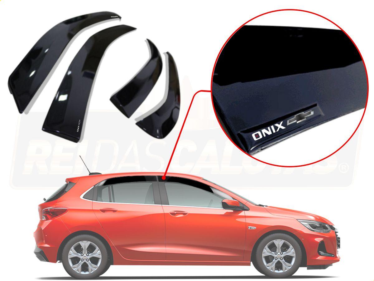 Calha De Chuva Com Escrita Em Alto Relevo Chevrolet Novo Onix Hatch 2020 A 2021