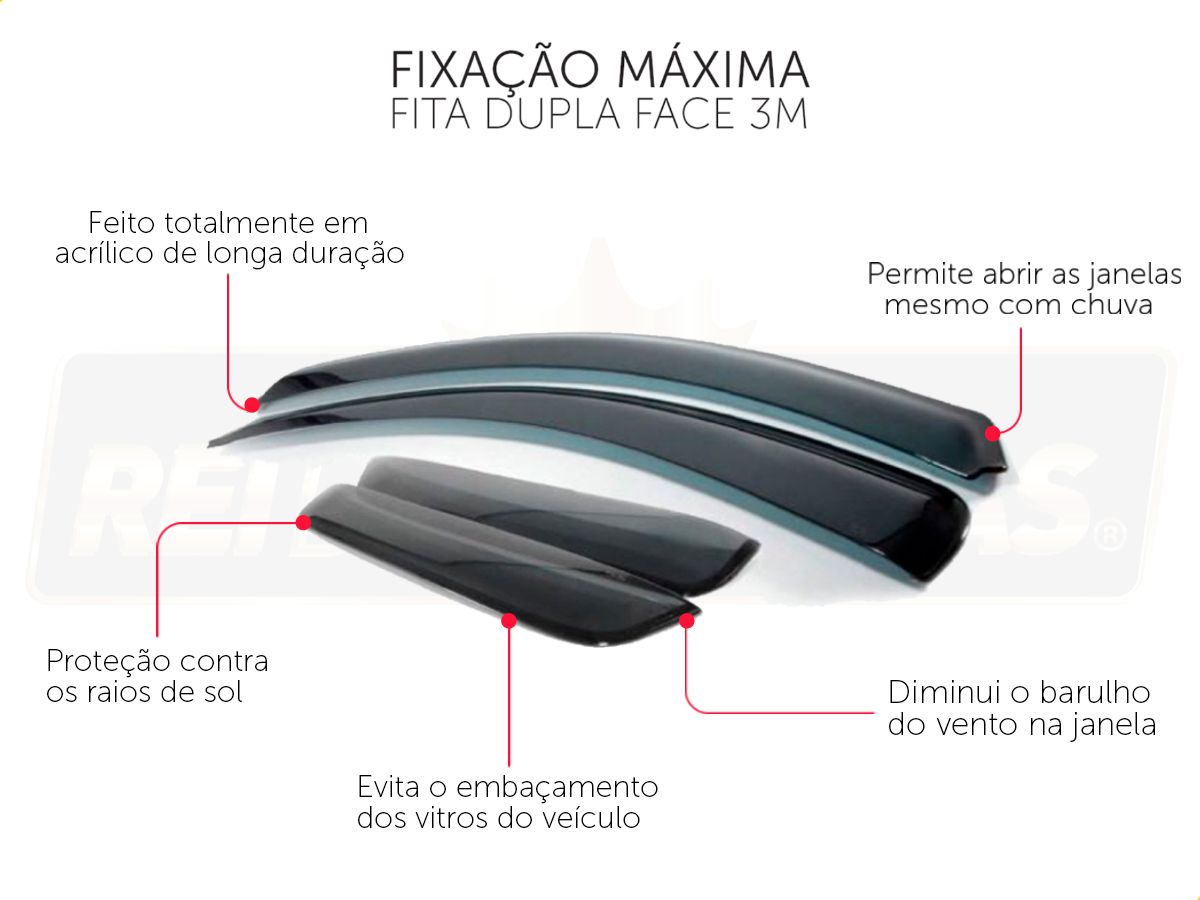 Calha De Chuva Com Escrita Em Alto Relevo Chevrolet Spin 2012 A 2020