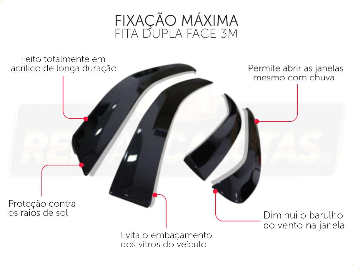 Calha De Chuva Com Escrita Em Alto Relevo Ford New Fiesta Hatch 2012 A 2018