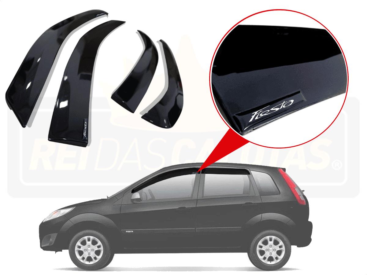 Calha De Chuva Com Escrita Em Alto Relevo Ford Fiesta Rocam 4p 2003 A 2017