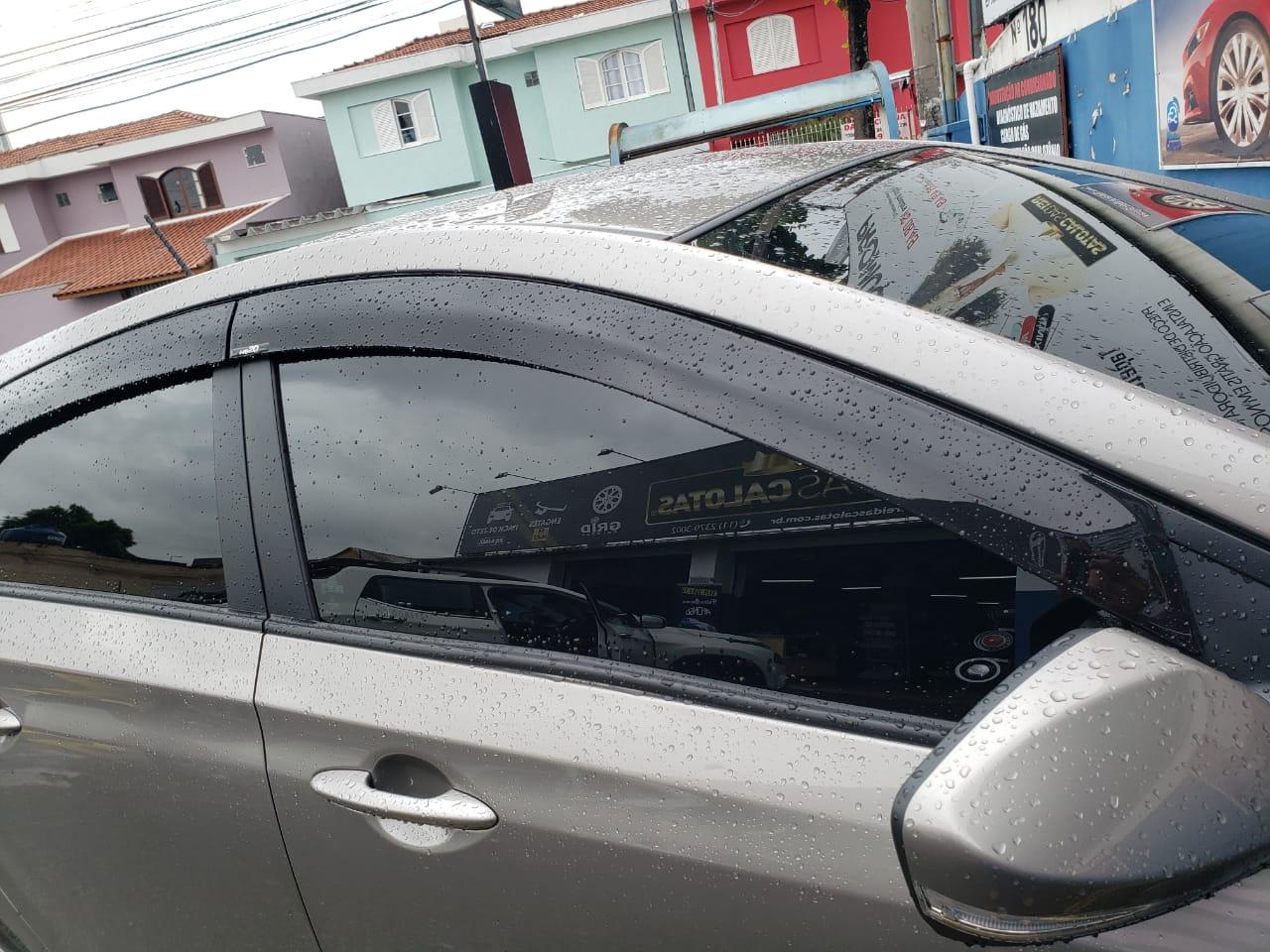 Calha De Chuva Hyundai HB20 Hatch 2019 Escrita Em Alto Relevo  - Rei das Calotas