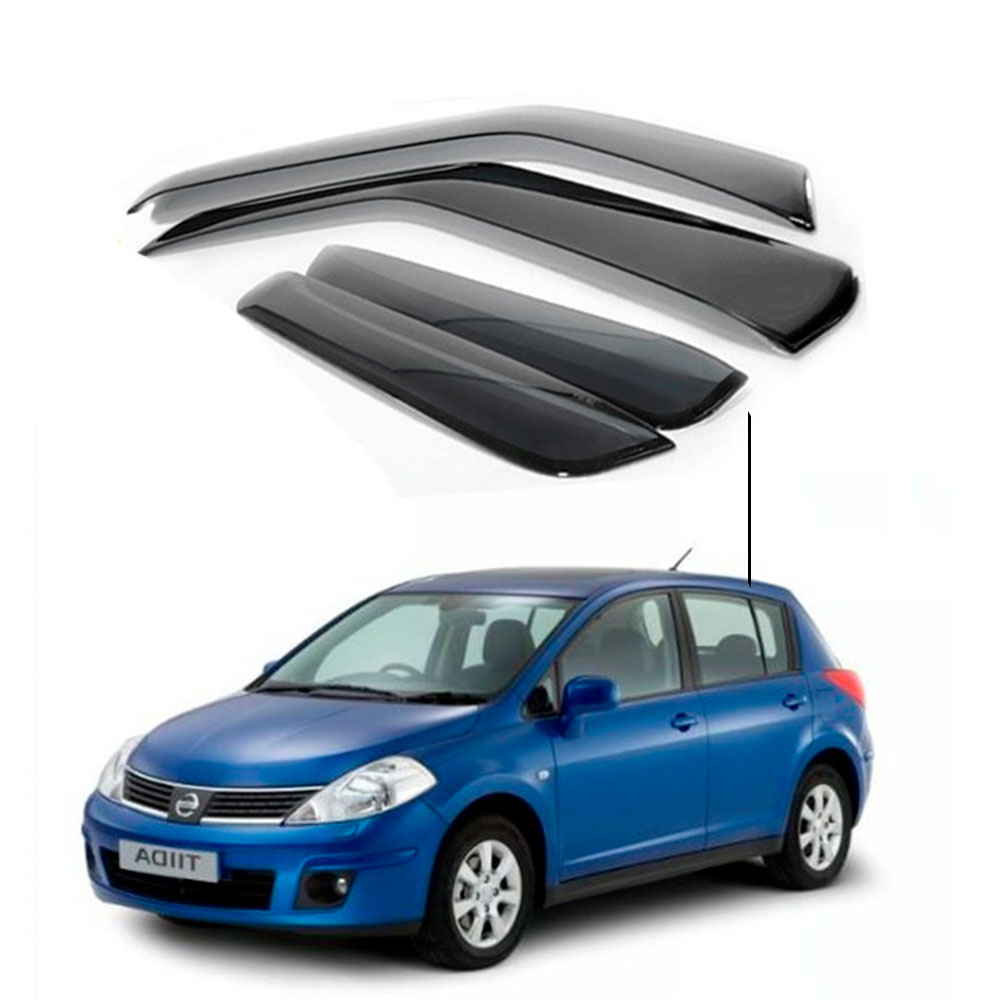 Calha De Chuva Nissan Tiida Hatch 2007 2008 2009 2010 2011 2012 2013 2014