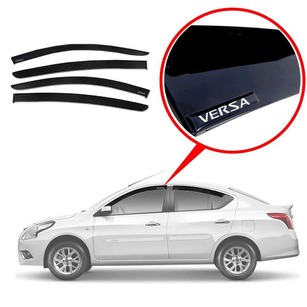 Calha De Chuva Com Escrita Em Alto Relevo Nissan Versa   2018 2019