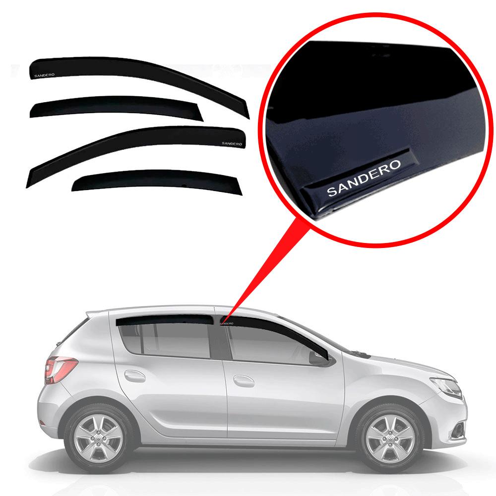Calha De Chuva Com Escrita Em Alto Relevo Novo Renault Novo Sandero 2014 A 2019