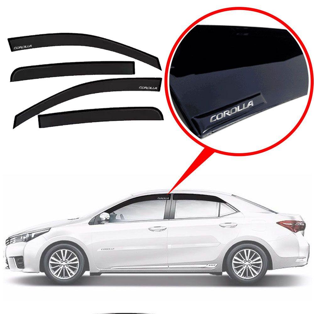 Calha De Chuva Com Escrita Em Alto Relevo Toyota Corolla 2015