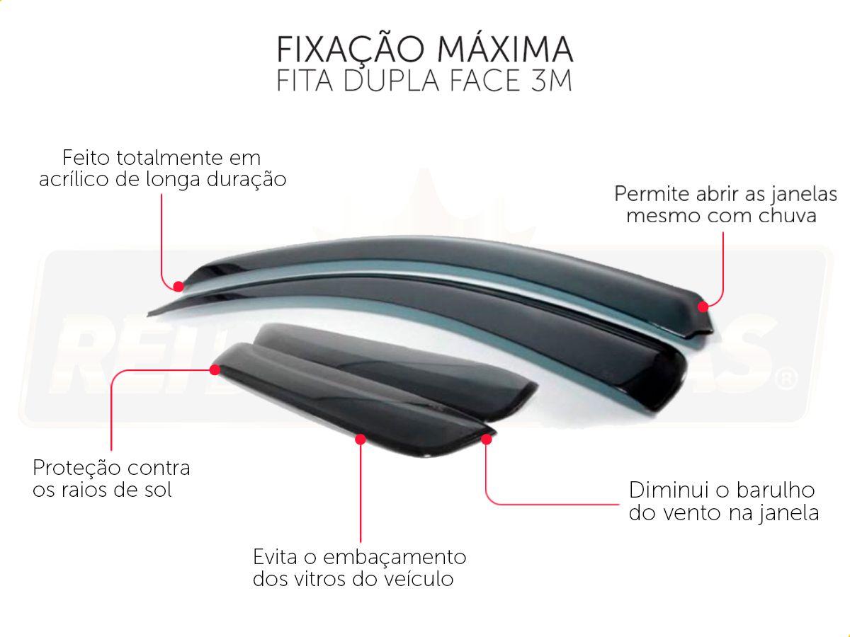 Calha De Chuva Toyota Hilux 2016 4P 2016 2017 2018