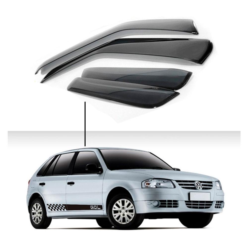 Calha De Chuva Volkswagen Gol 4P G1 G2 G3 G4 1995 A 2014
