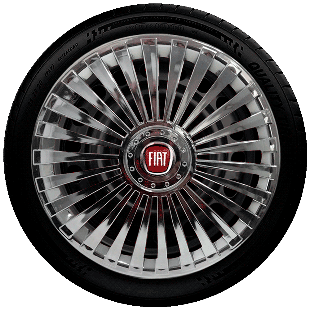 Calota Aro 13 Cromada Fiat G075Chr